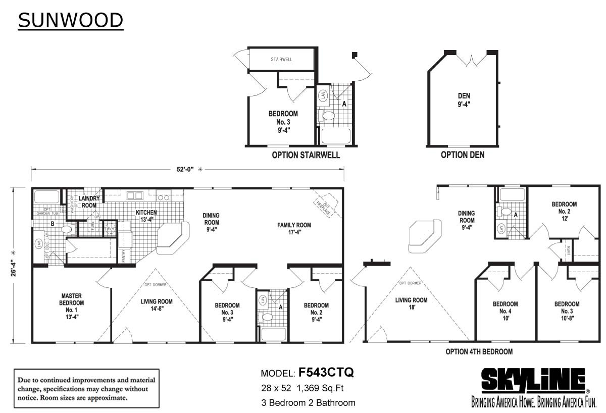 Sunwood F543CTQ Layout