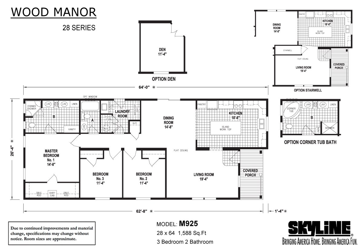 Wood Manor M925 Layout