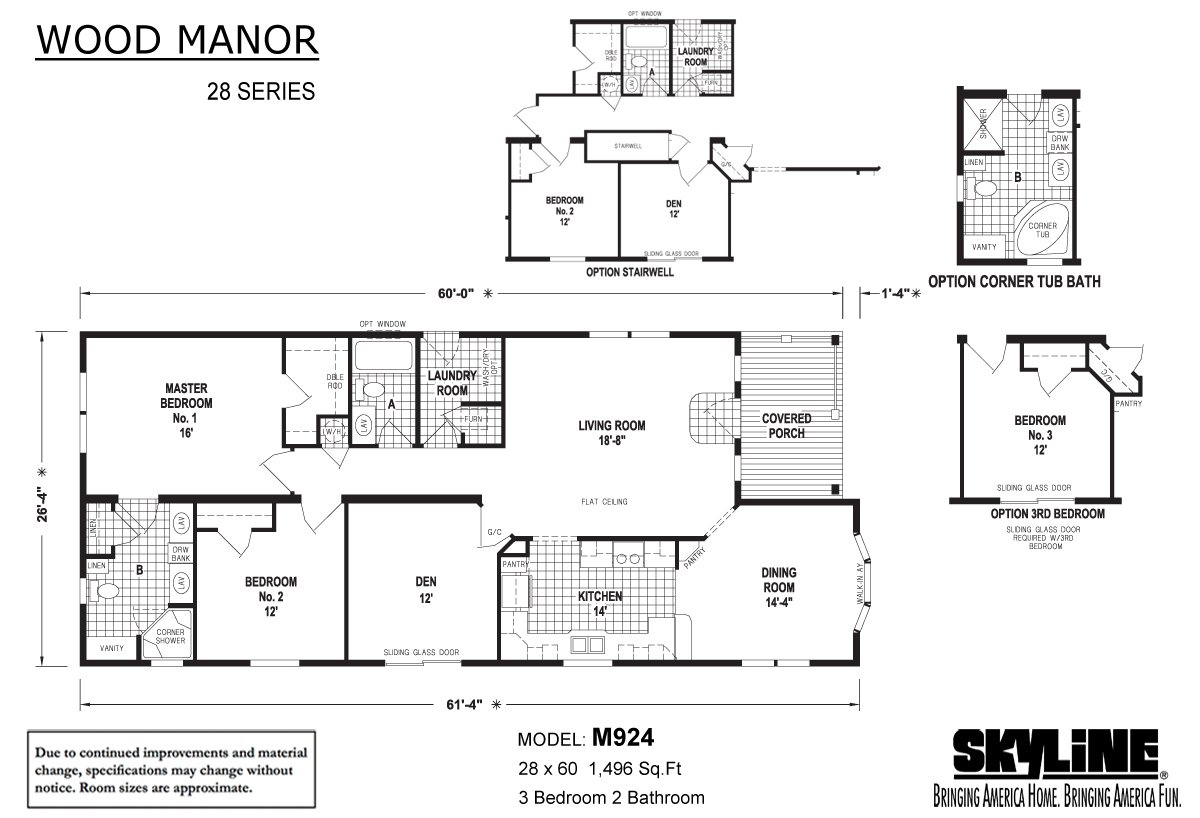 Wood Manor M924 Layout