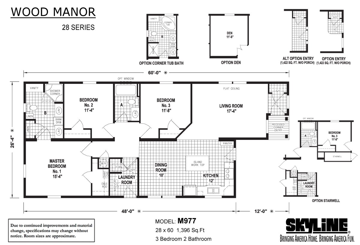 Wood Manor M977 By Skyline Homes