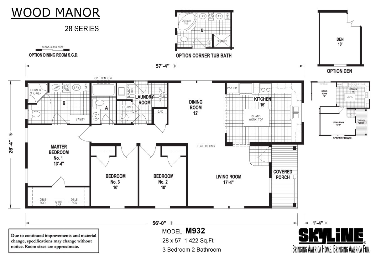 Wood Manor M932 By Skyline Homes