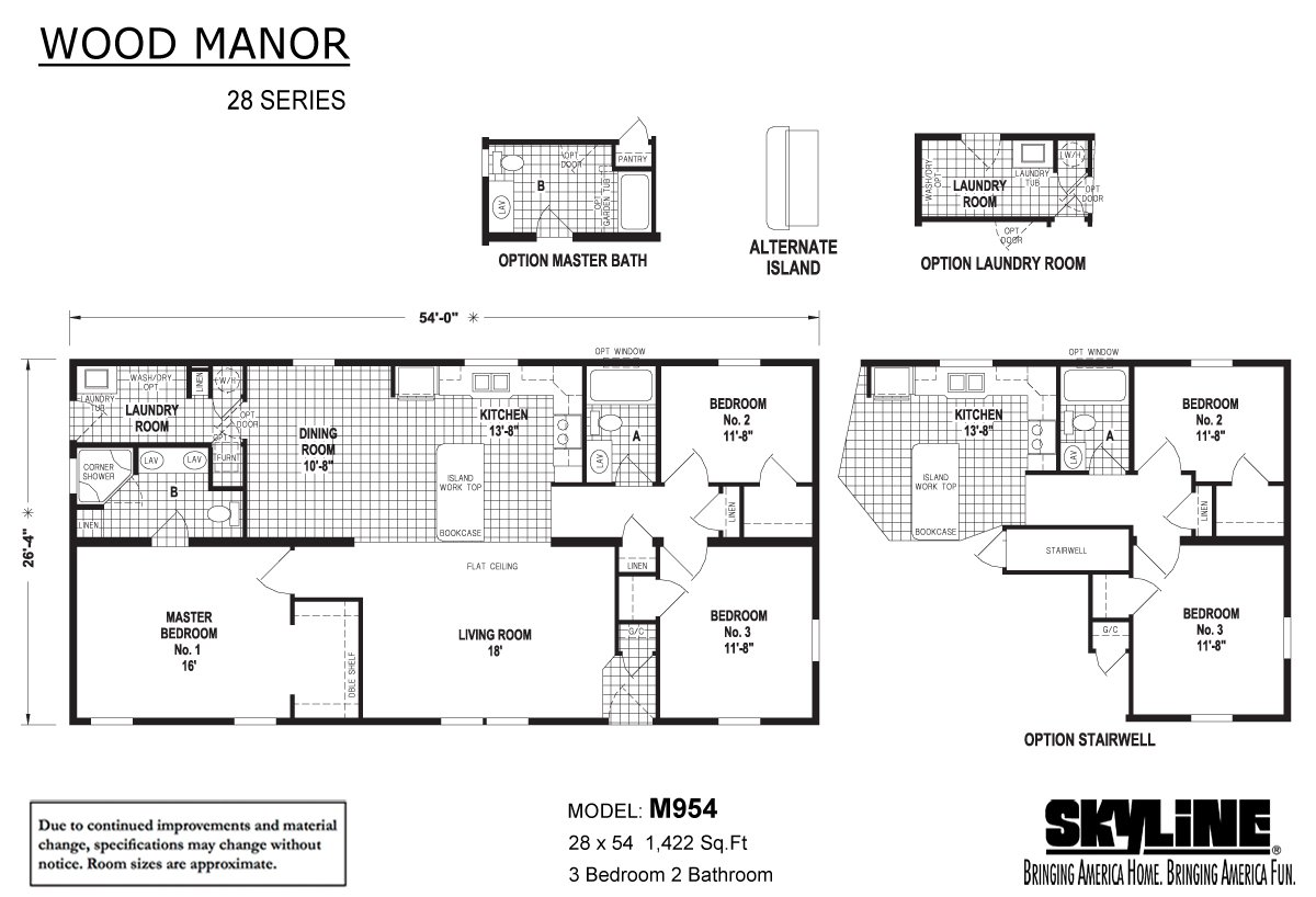 Wood Manor M954 By Skyline Homes