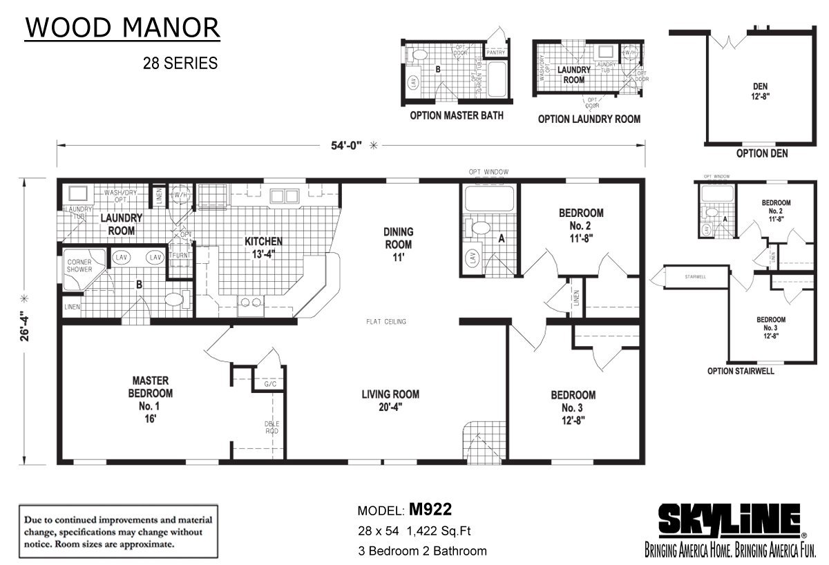 Wood Manor M922 By Skyline Homes