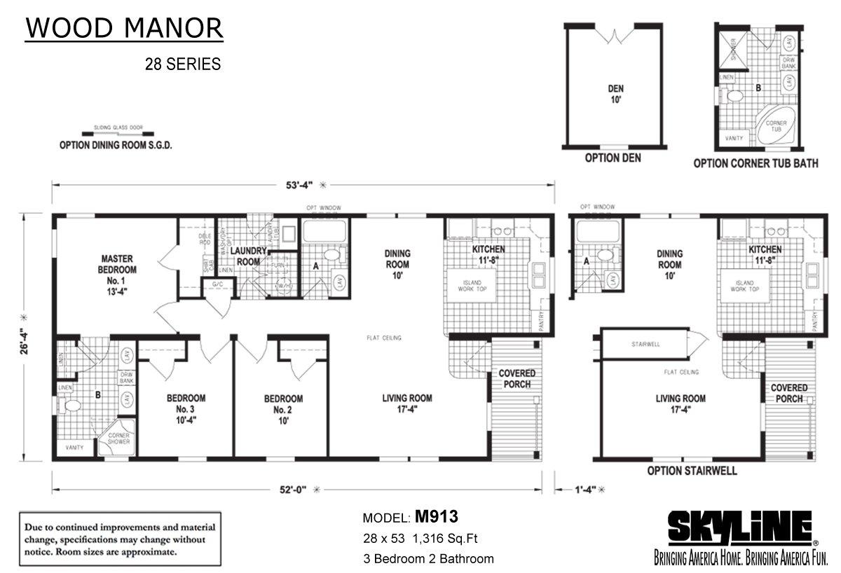 Wood Manor M913 Layout