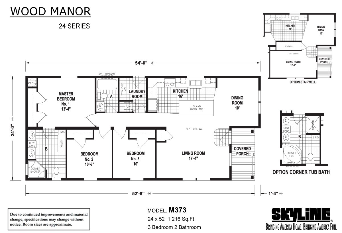 Wood Manor M373 Layout