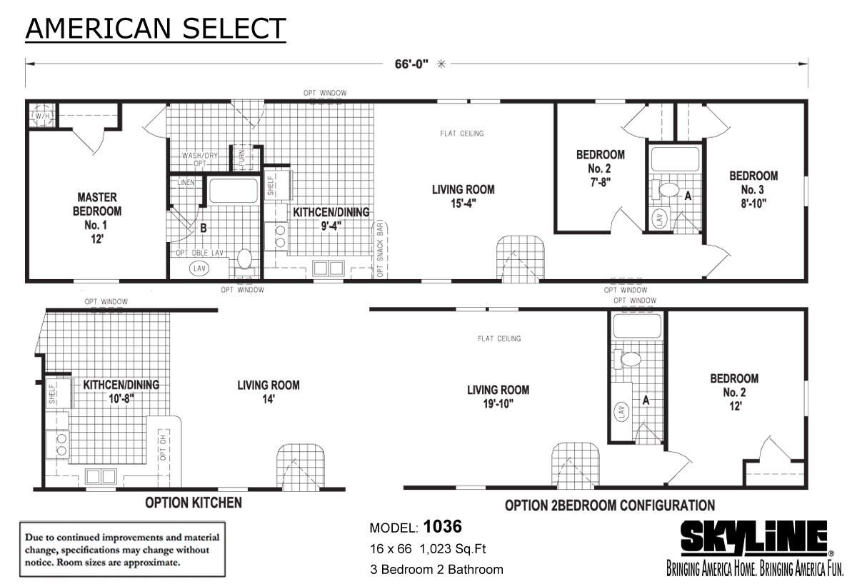 American Select 1036 Layout