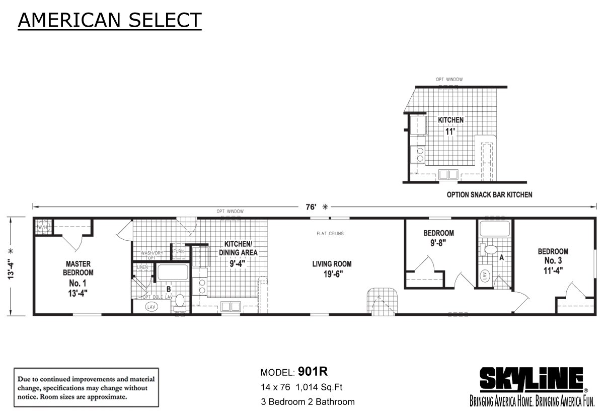 American Select 901R Layout