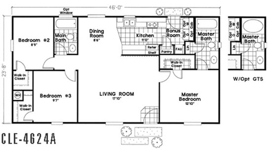 Cle Multi-section / CLE-4624A By Durango Homes By Cavco