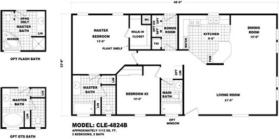Cle Multi-section / CLE-4824B By Durango Homes By Cavco