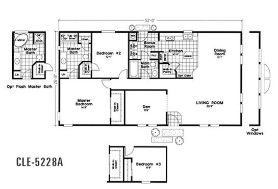 Cle Multi-section / CLE-5228A By Durango Homes By Cavco