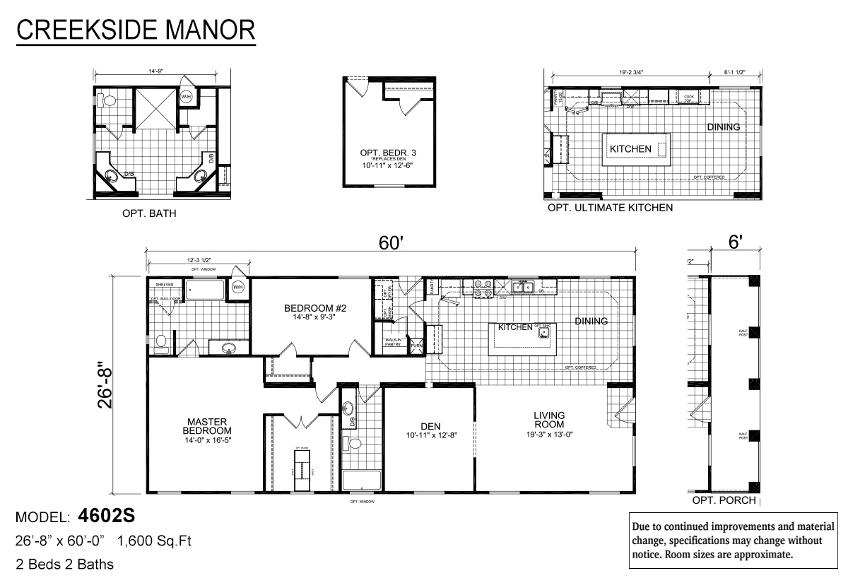 Creekside Manor 4602S Layout