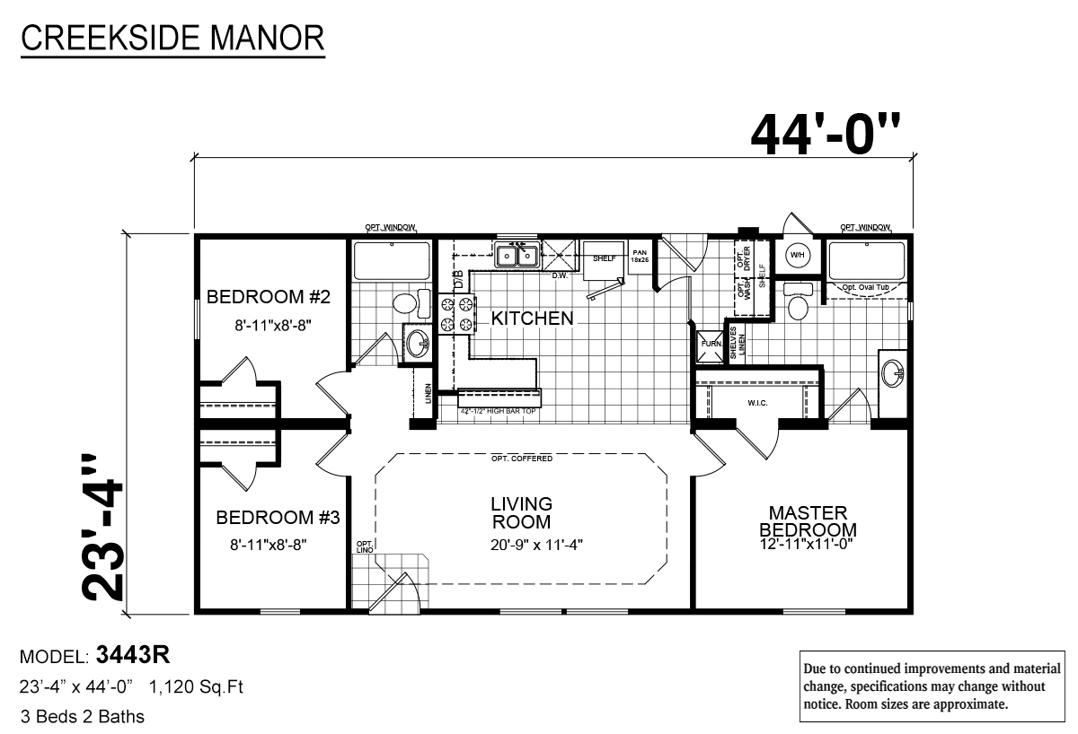 Creekside Manor 3443R Layout