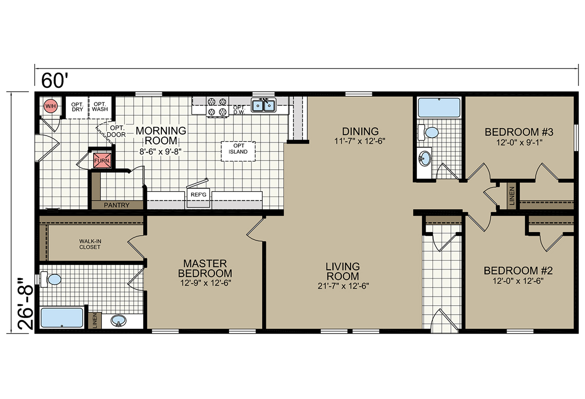 Lifestyle l468 by champion homes for Lifestyle homes floor plans