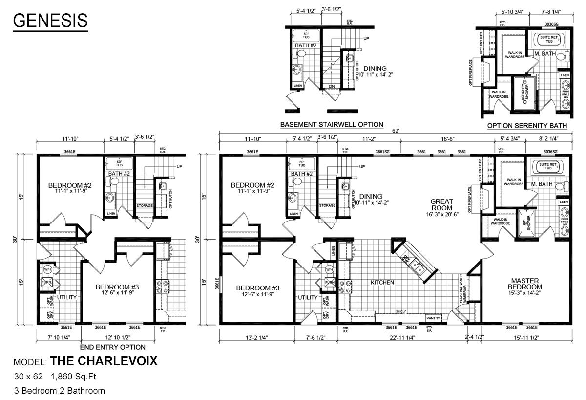 Genesis Modular The Charlevoix Layout
