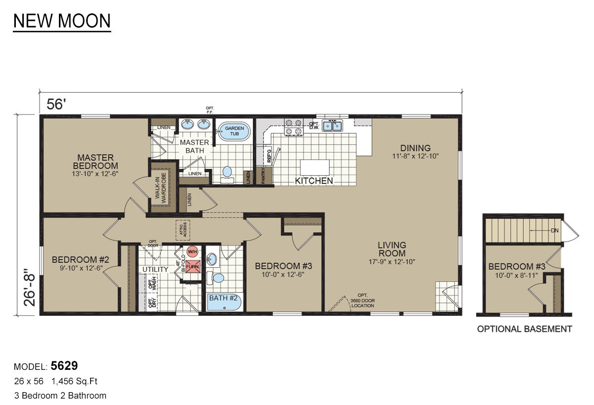 New moon modular 5629 by davis homes for Davis homes floor plans