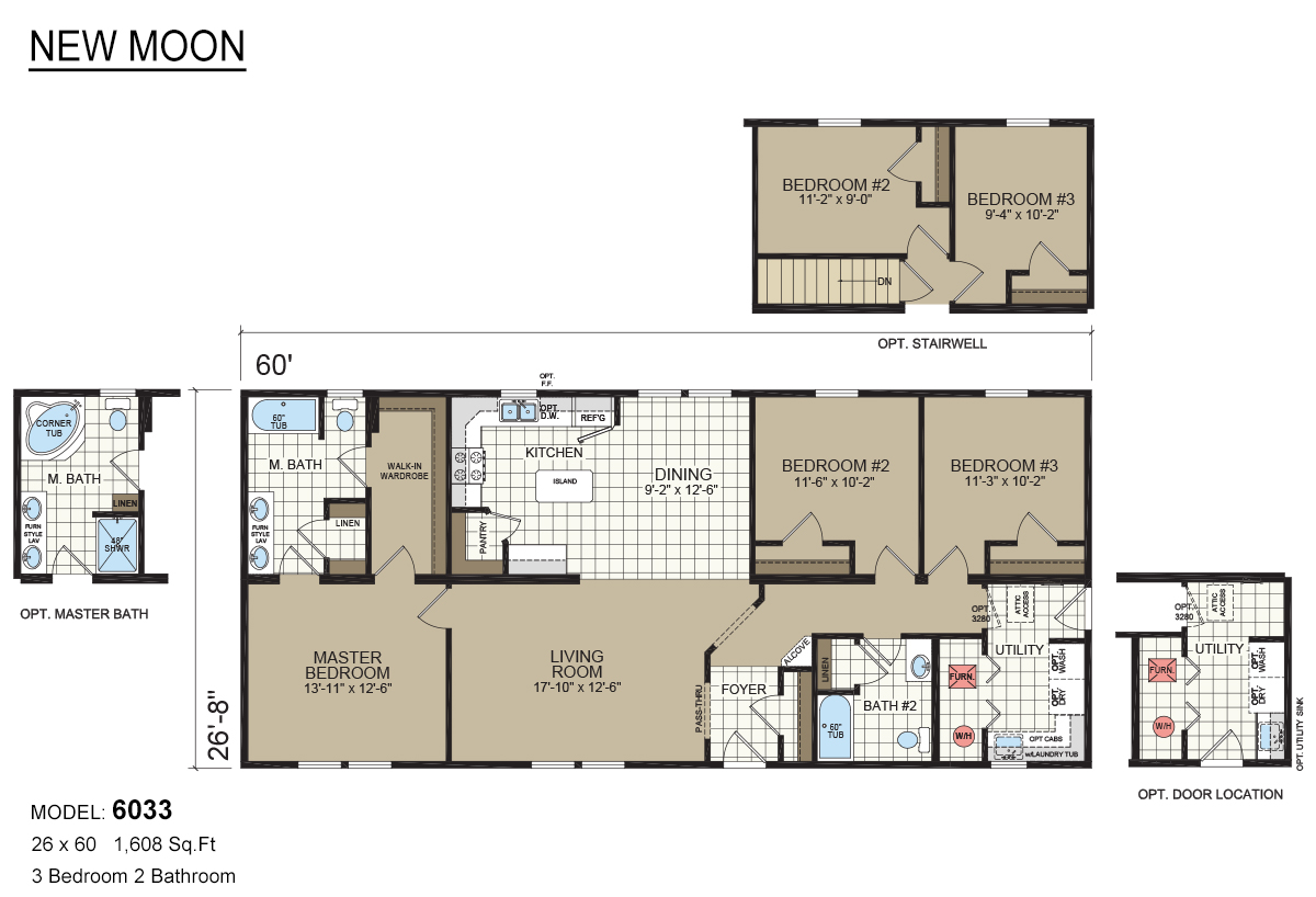 New moon mobile home floor plans for Davis homes floor plans