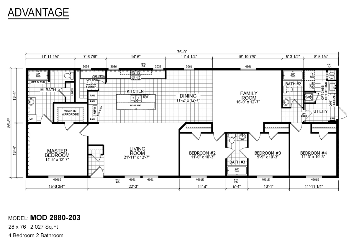 mod-2880-203-1st-floor-plans Redman Mobile Home Floor Plans X on