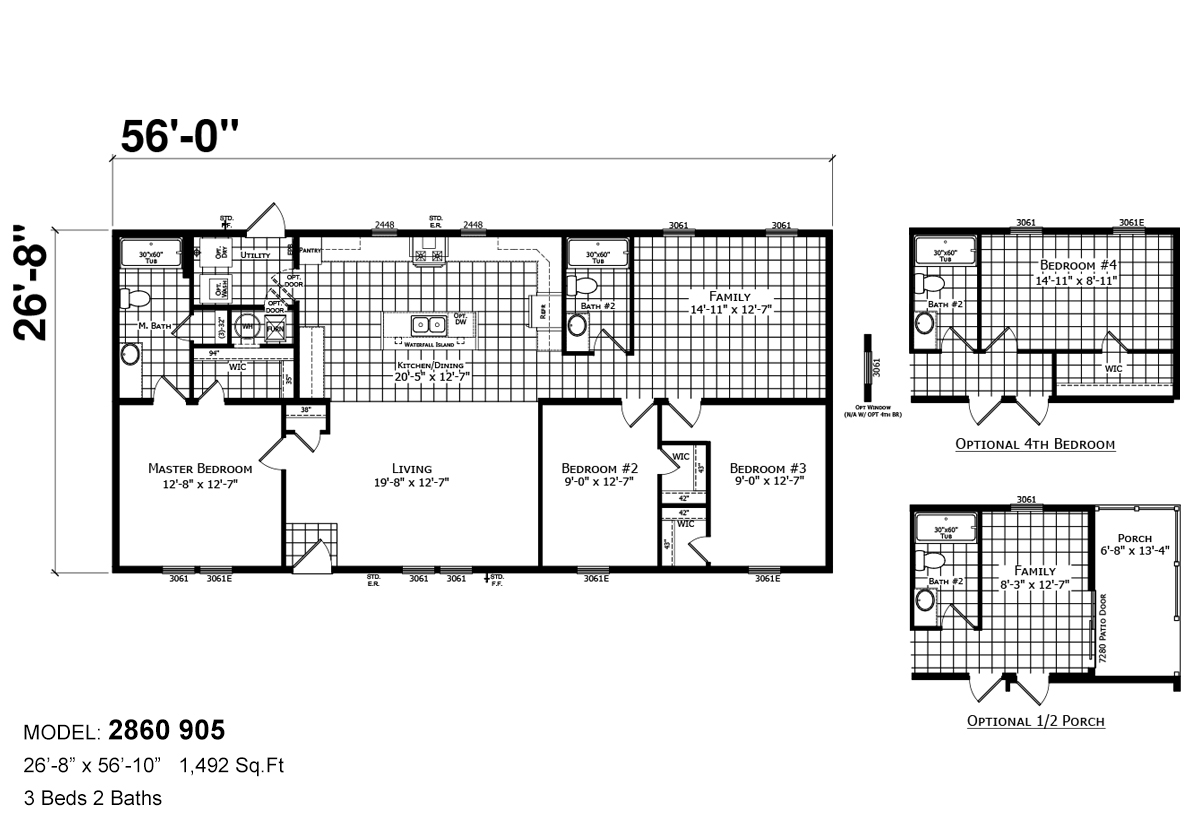 Sonic Sectional 2860-905 Layout