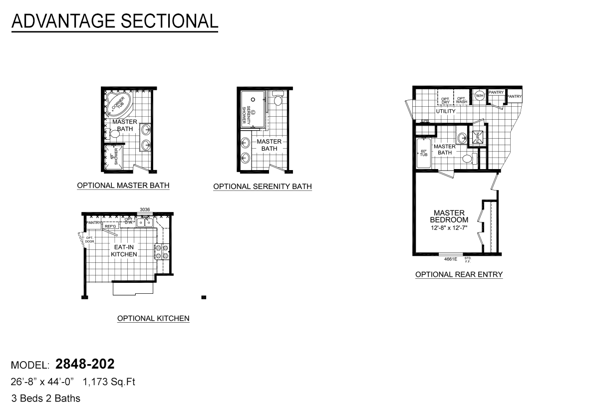 Advantage Sectional 2848 202 By Redman Homes Topeka
