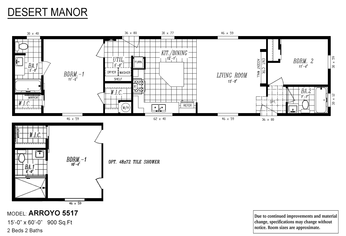 desert manor    arroyo by marlette homes