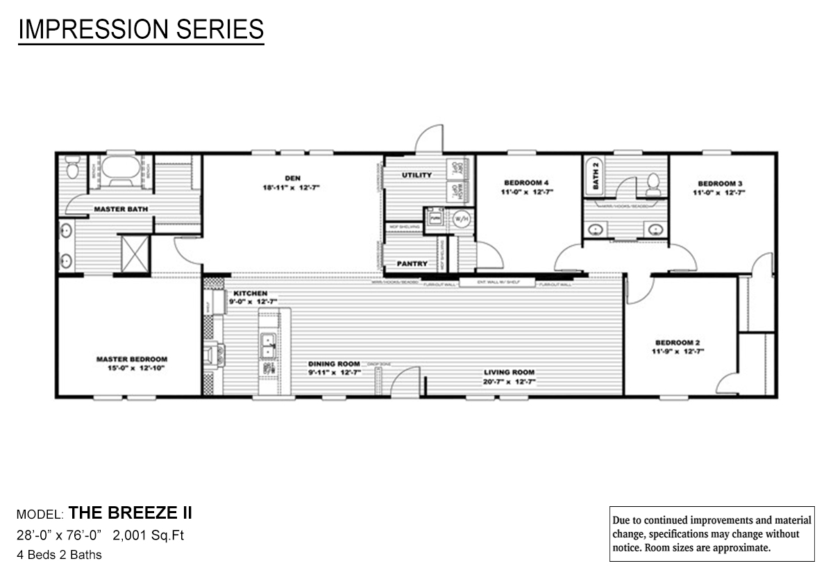 Impression Series / The Breeze II By Marlette Homes