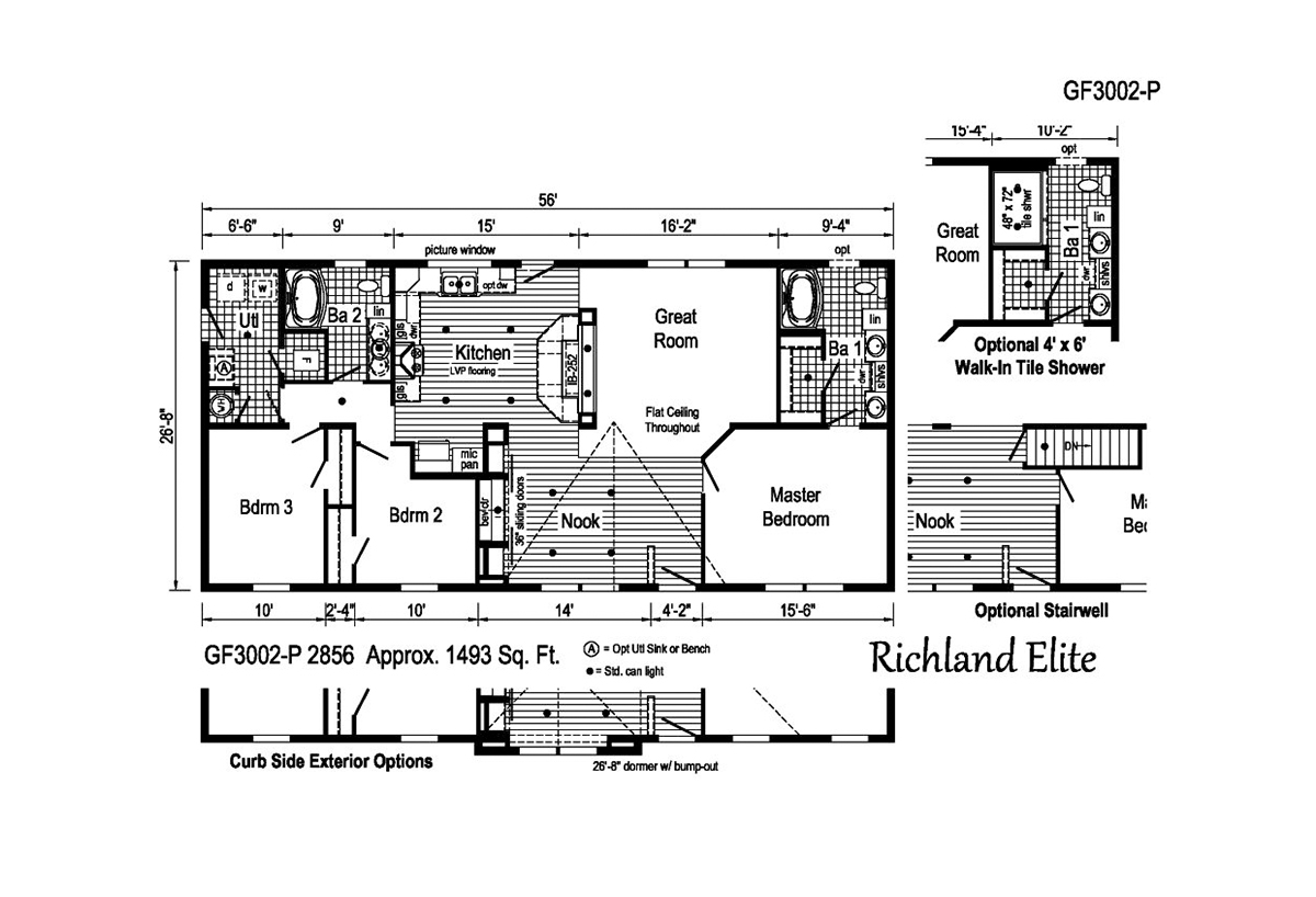 Richland Elite Ranch GF3002-P Layout