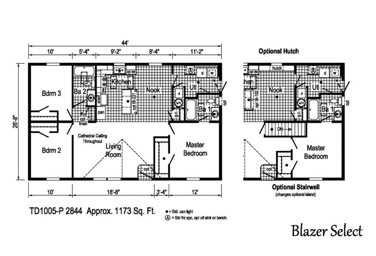 Blazer Select TD1005-P Layout