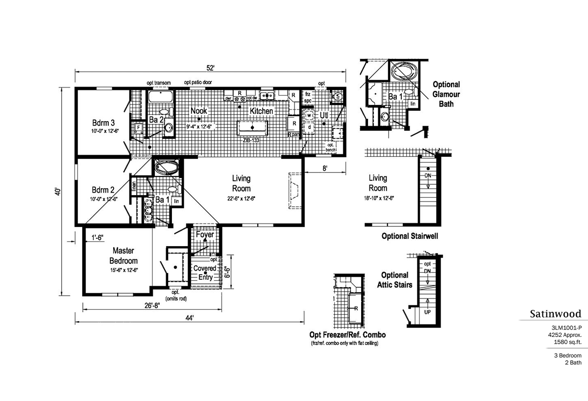 LandMark Satinwood 3LM1001-P Layout