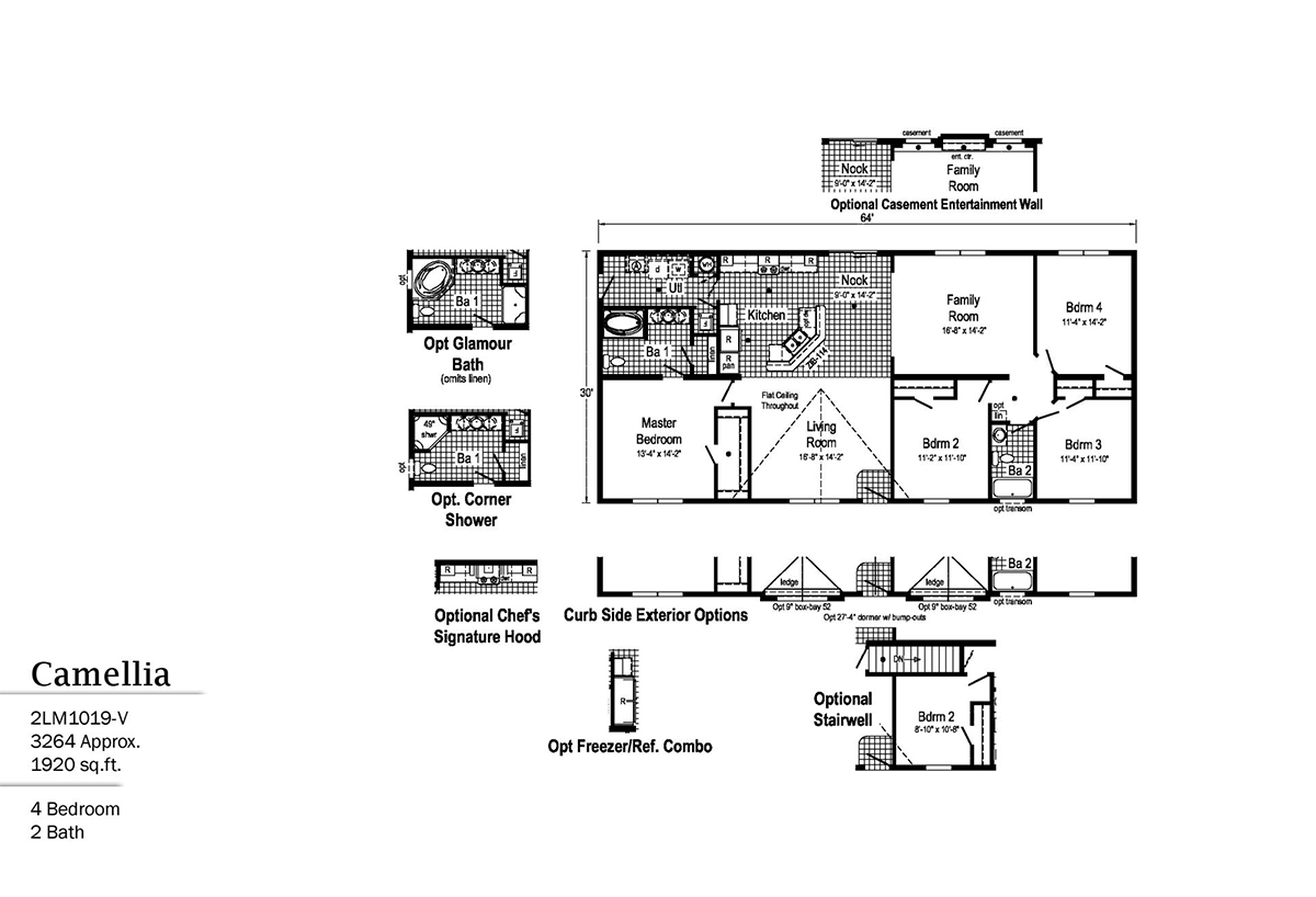 LandMark Camellia 2LM1019-V Layout