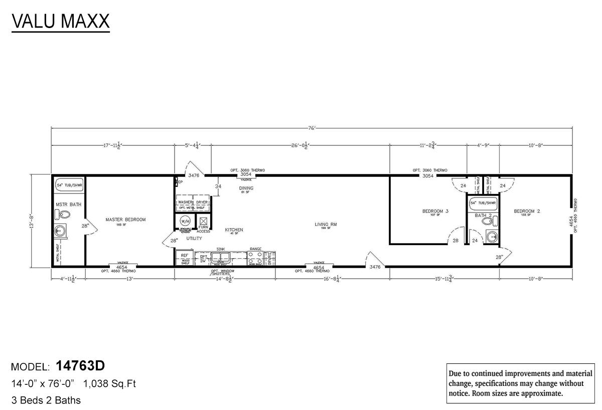 LH Valu Maxx 14763D Layout