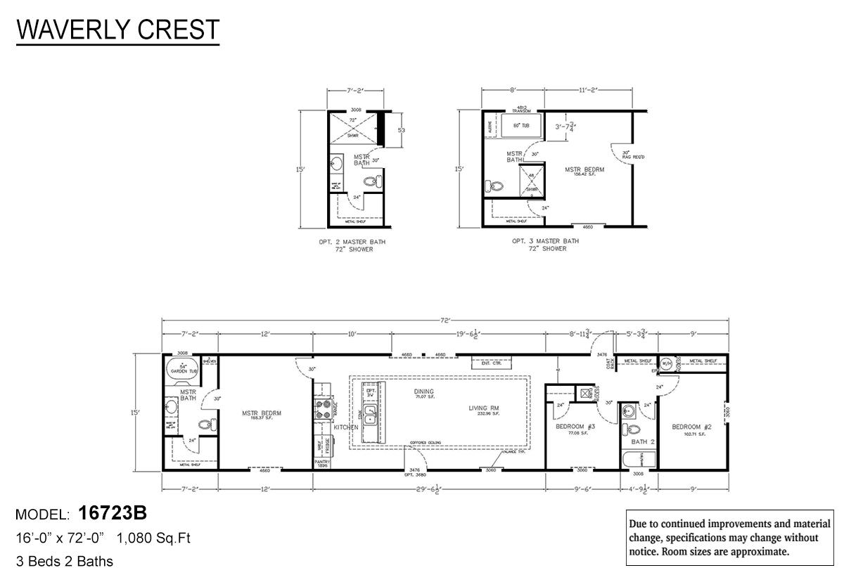 LH Waverly Crest 16723B Layout