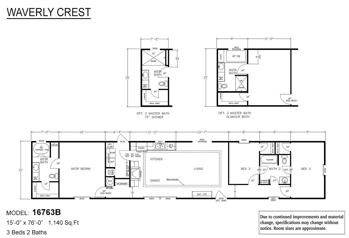 LH Waverly Crest 16763B Layout