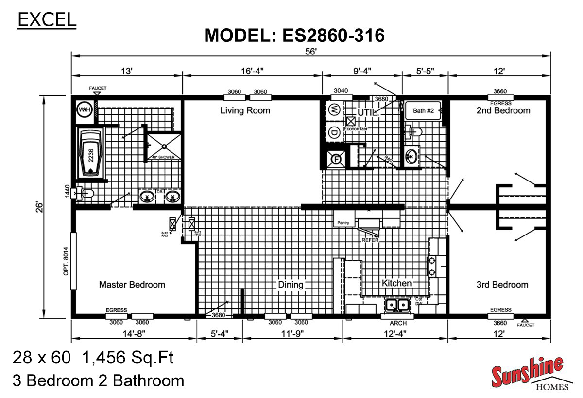 Split Level Floor Plans together with 1500 Sq Ft Ranch House Plans together with Oak Ridge B together with Home Floor Plans Split Level as well Floor Plans. on excel modular homes