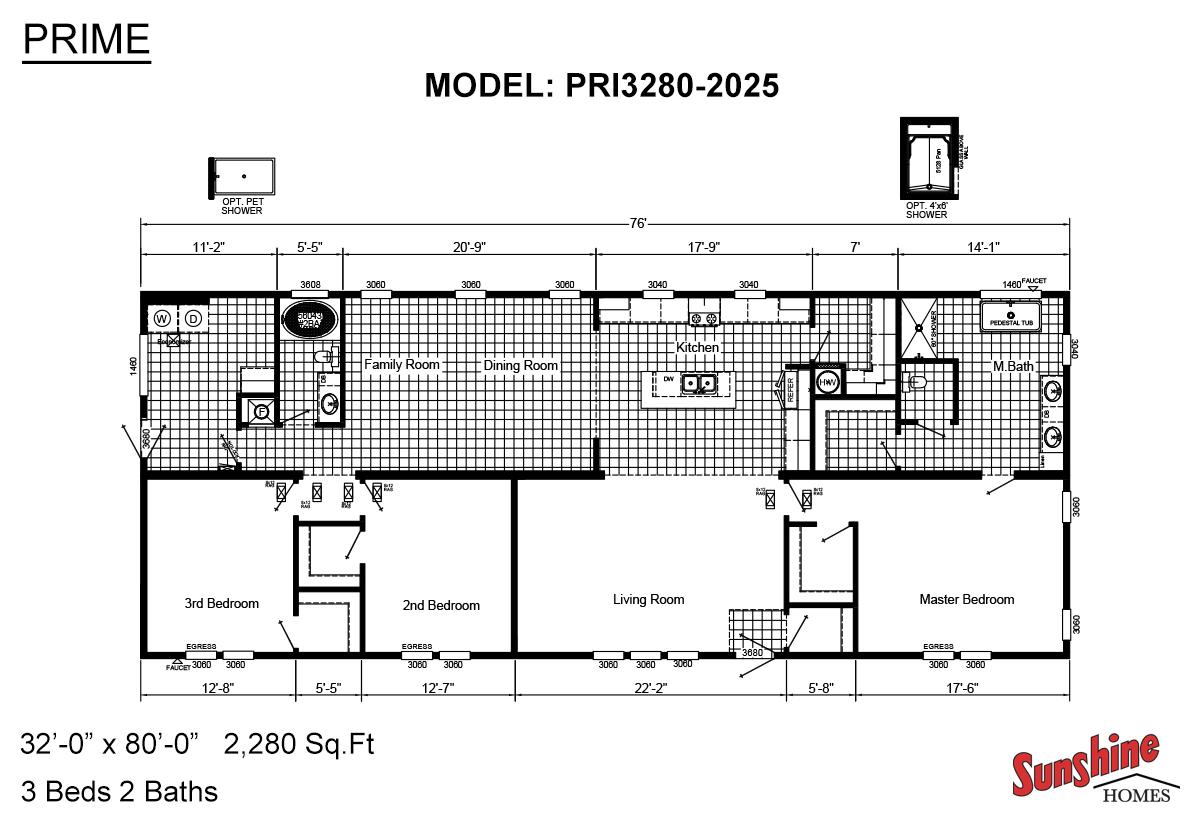 Manufactured Home Floor Plans Sunshine Homes Red Bay Alabama