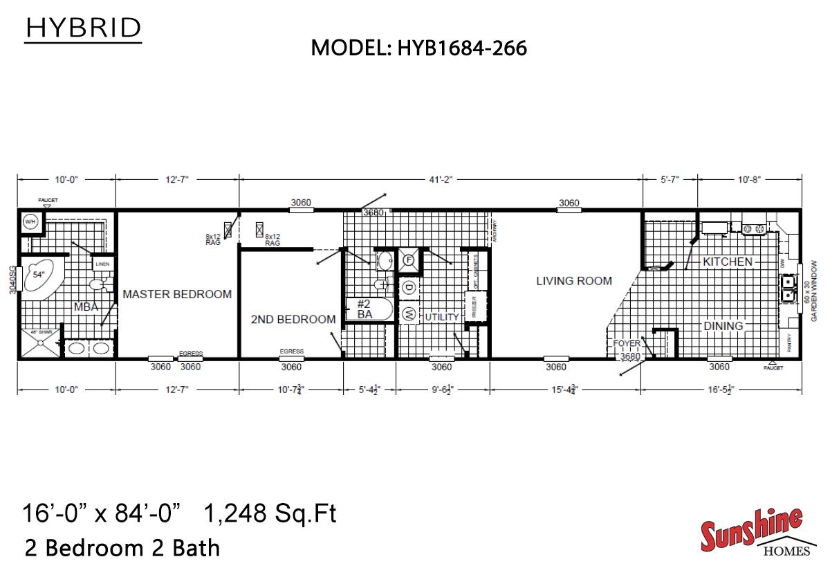 Hybrid HYB1684-266 (NOW 1684-1012) Layout