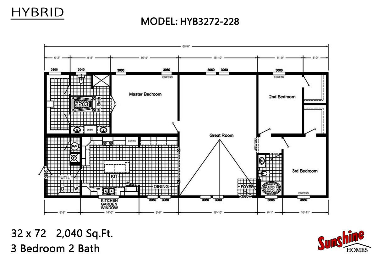 Hybrid HYB3272-228 (NOW 3272-2009) Layout