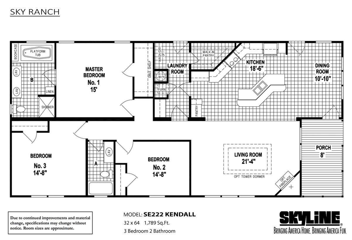 Sky ranch se222 kendall by skyline homes for Kendall homes floor plans