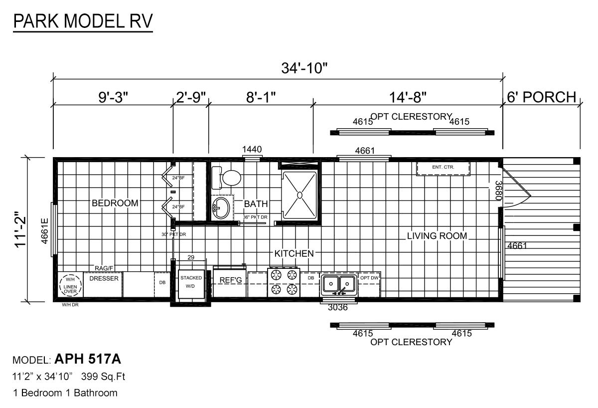 Park Model RV / APH 517A - Layout