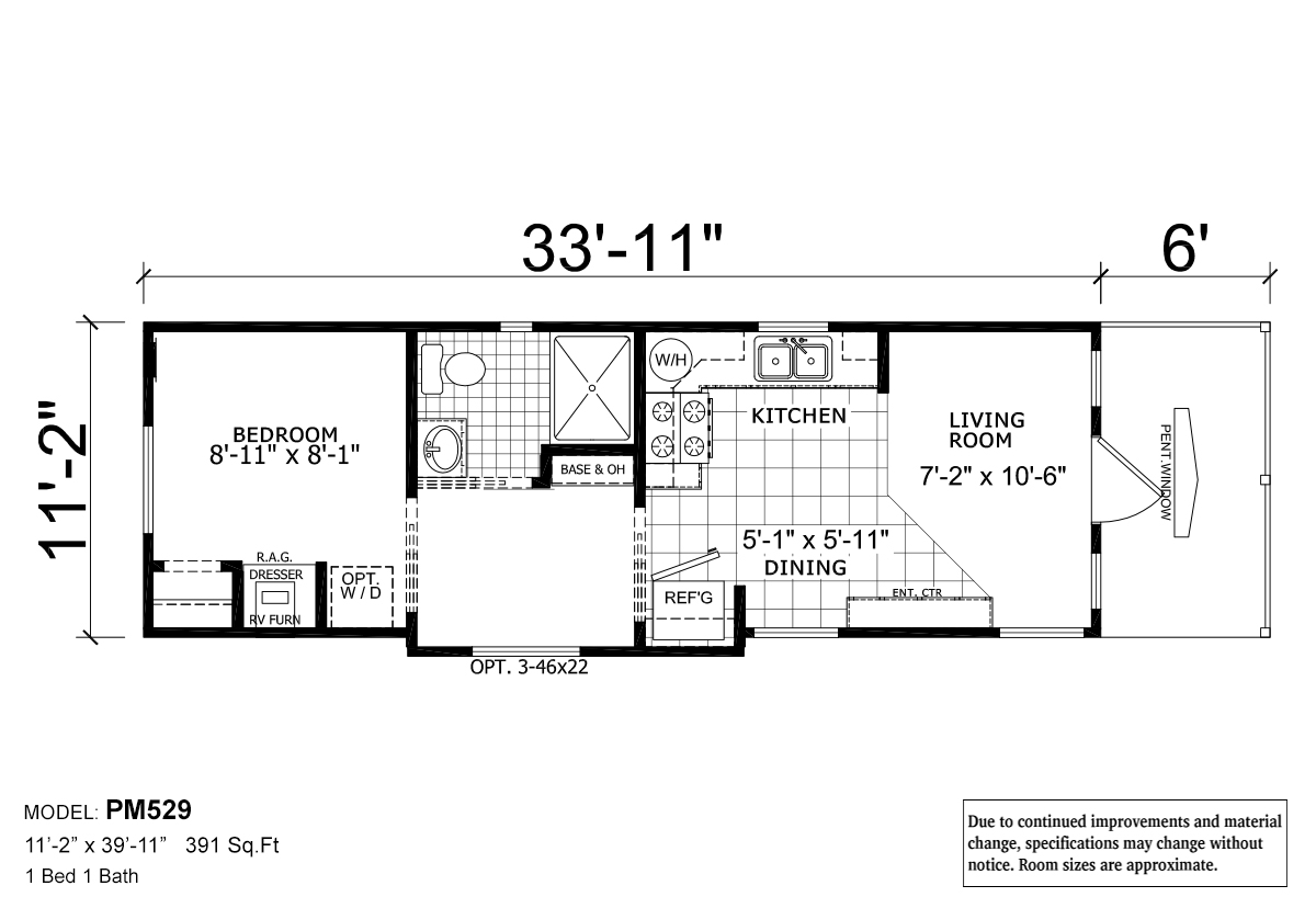 Floor plan park model rv 529 layout