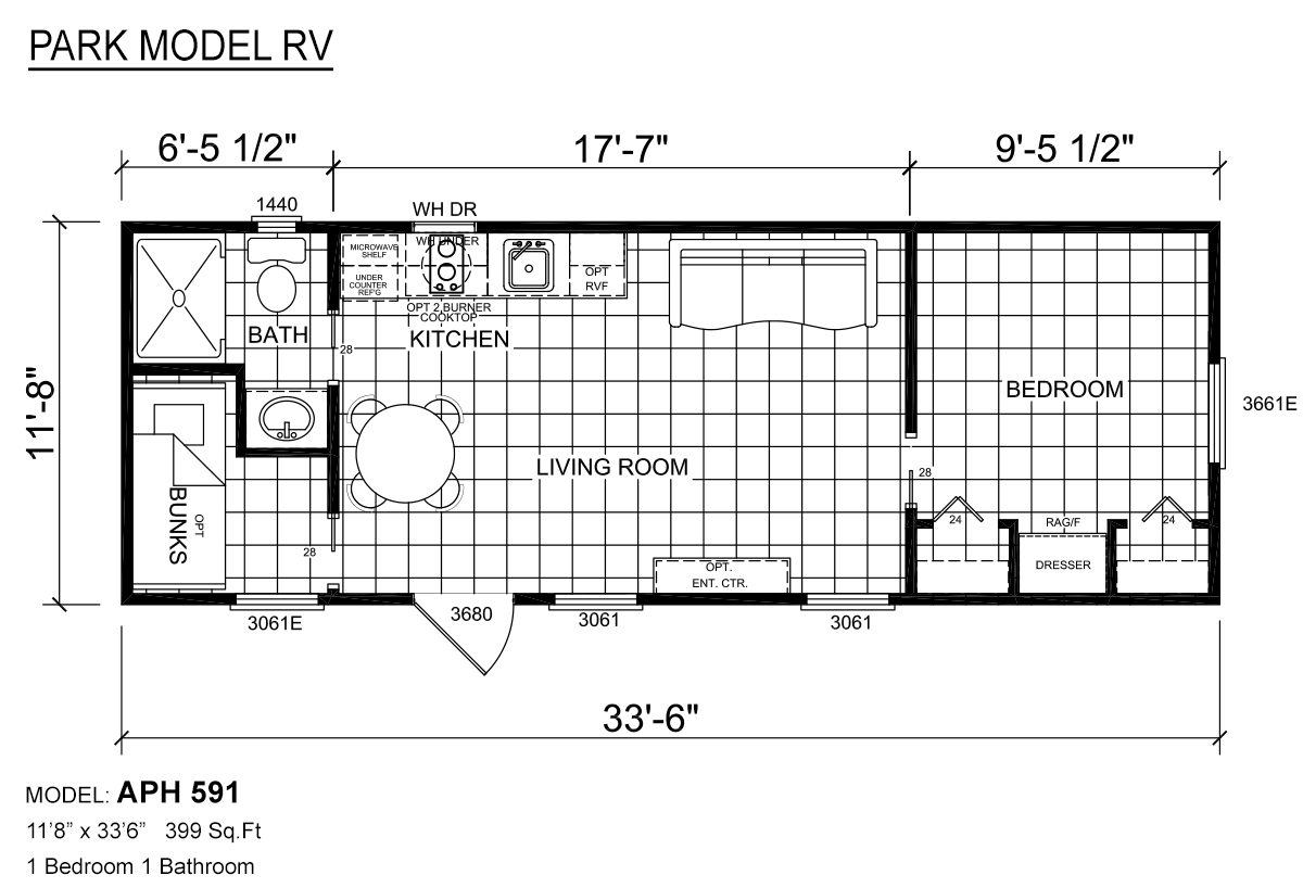Park Model RV / APH 591 by Texas Built Mobile Homes