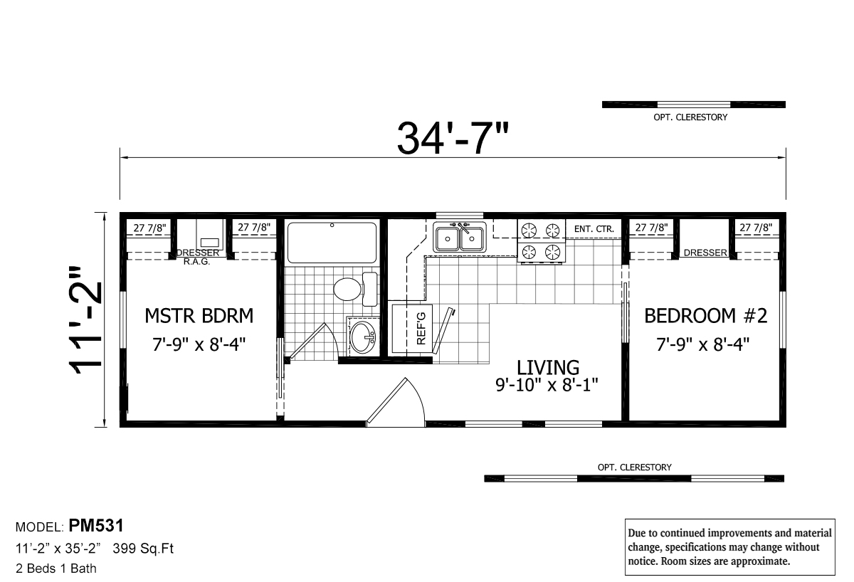 Floor plan park model rv 531 layout