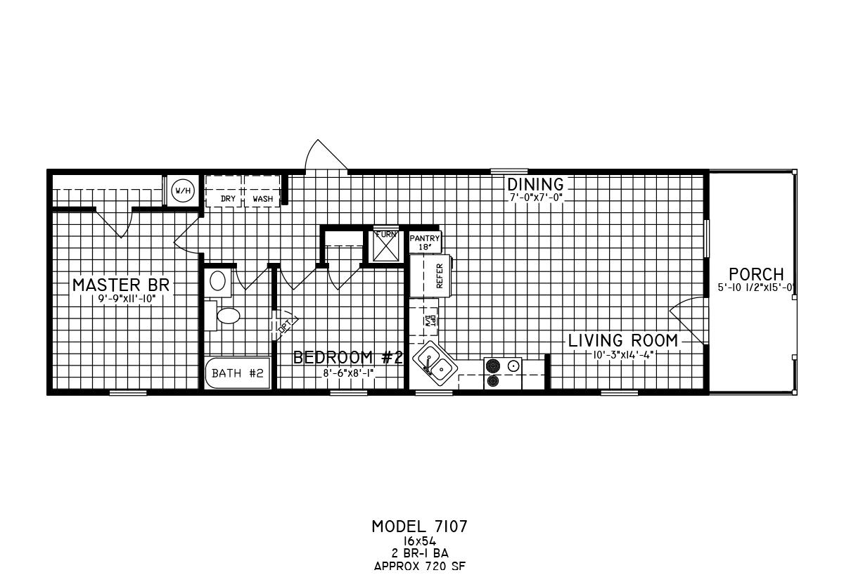 Cottage 7107 Layout