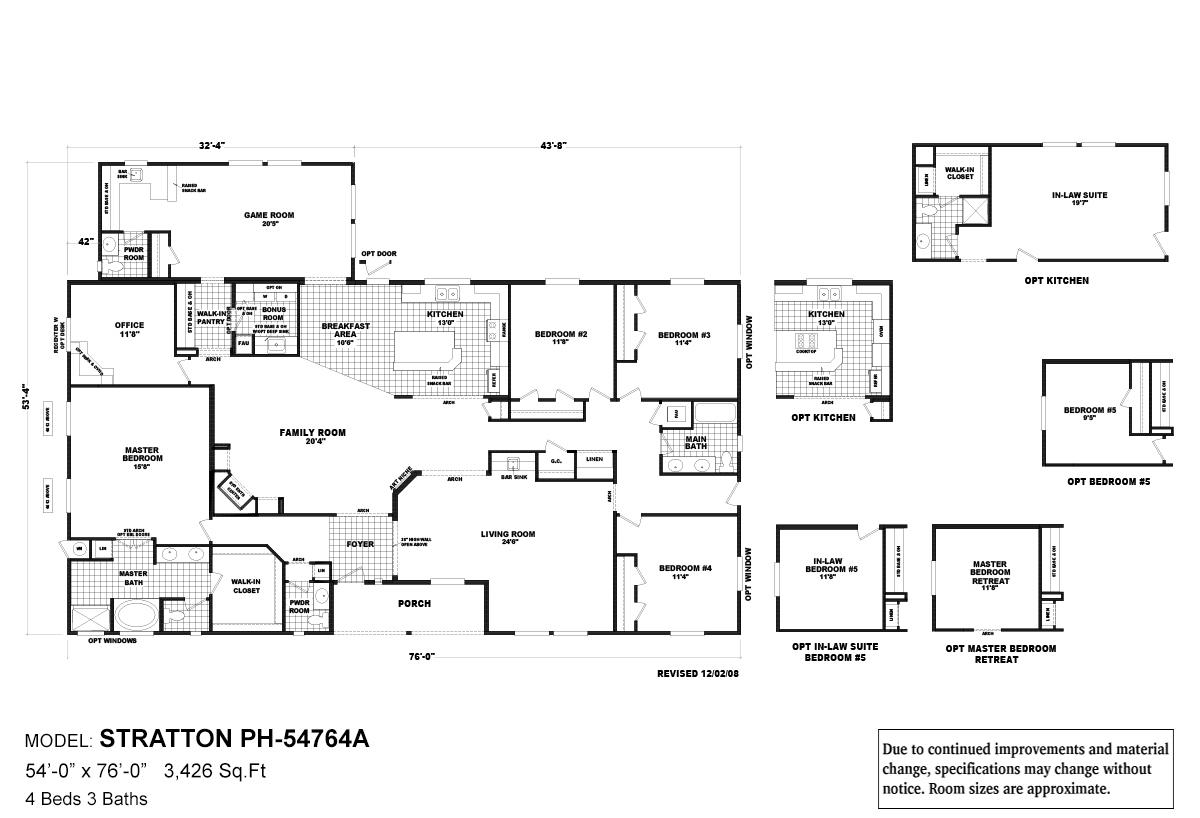 Pinehurst Stratton Layout
