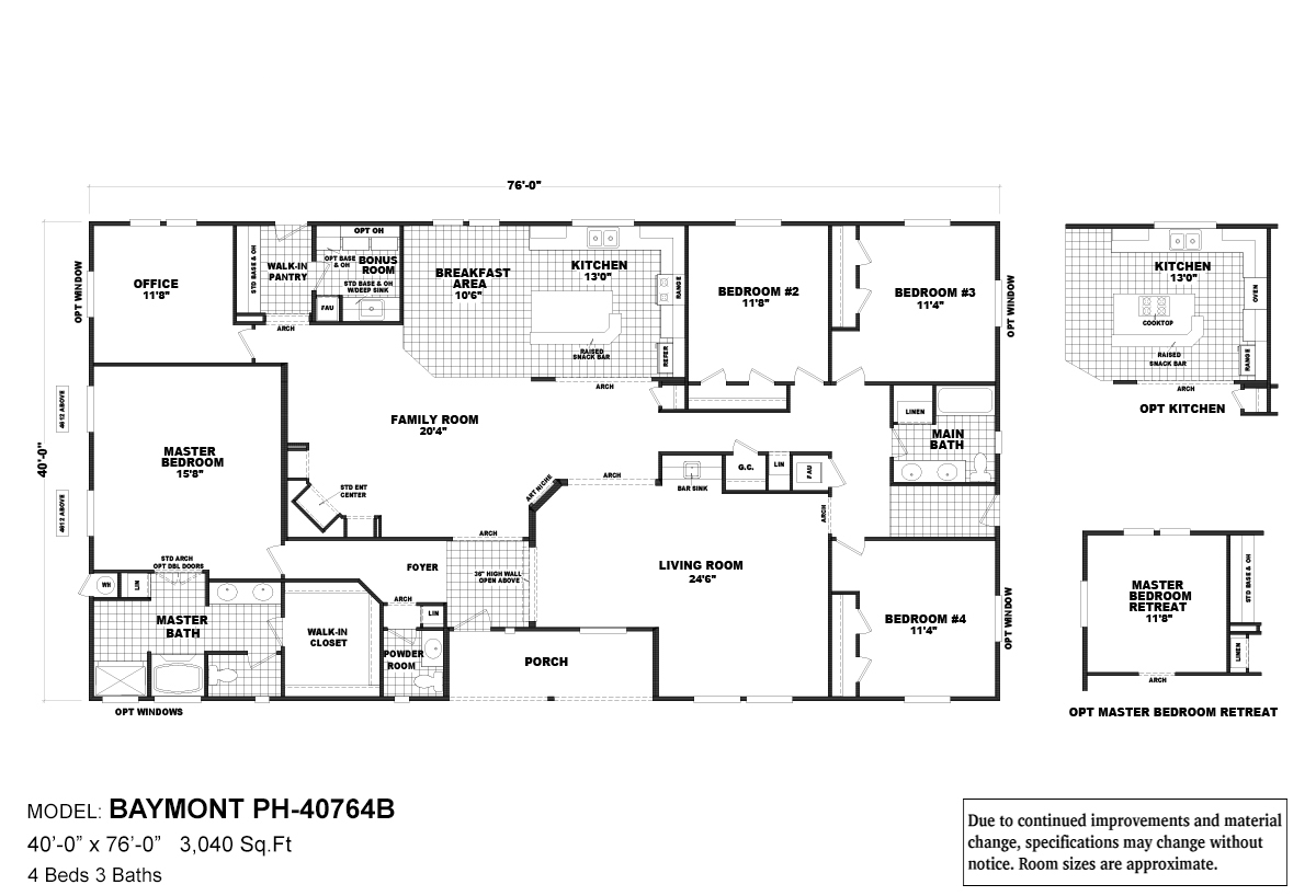 Pinehurst Baymont Layout