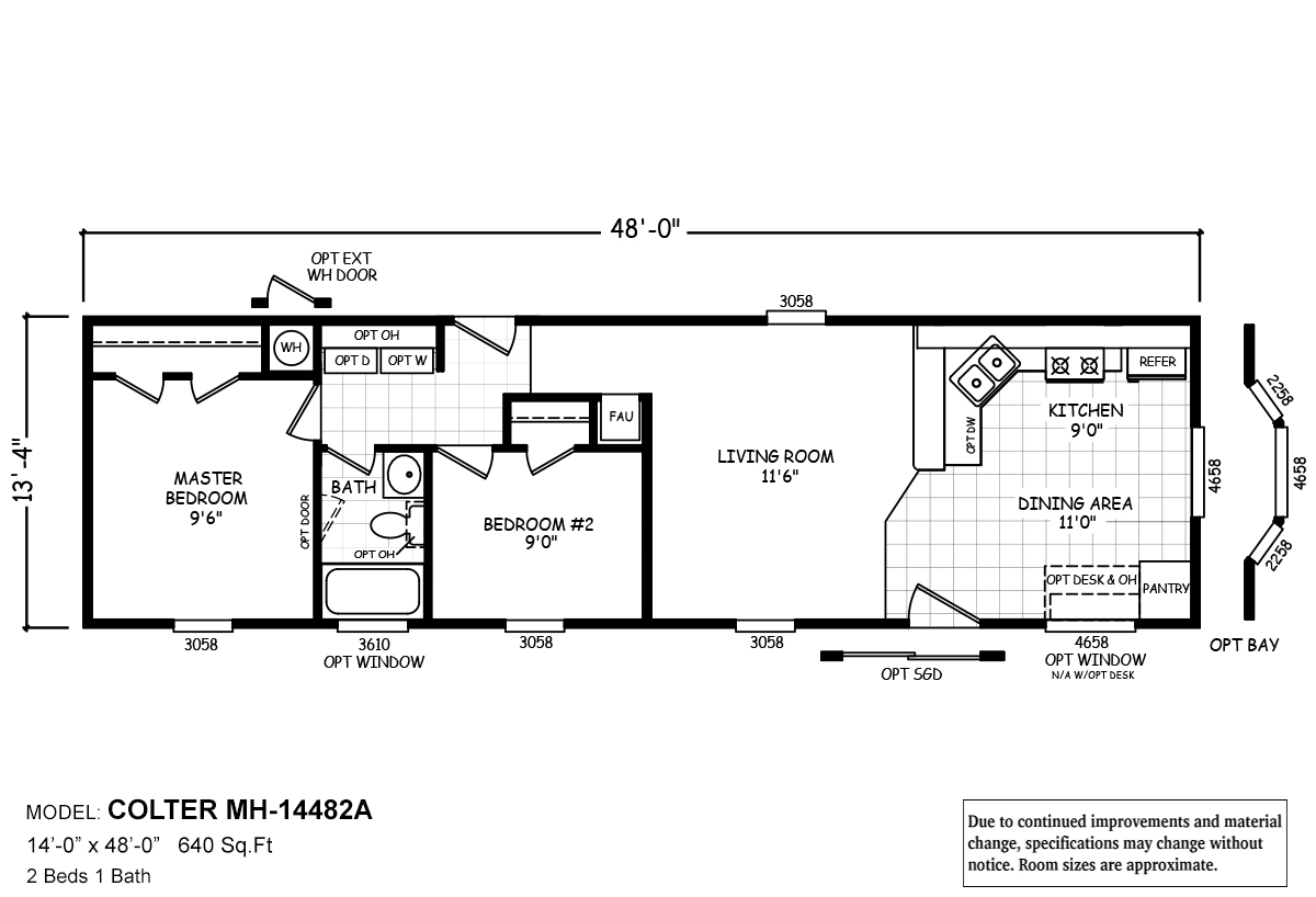 Cavco Homes Floor Plans Mh Series Colter By Cavco West