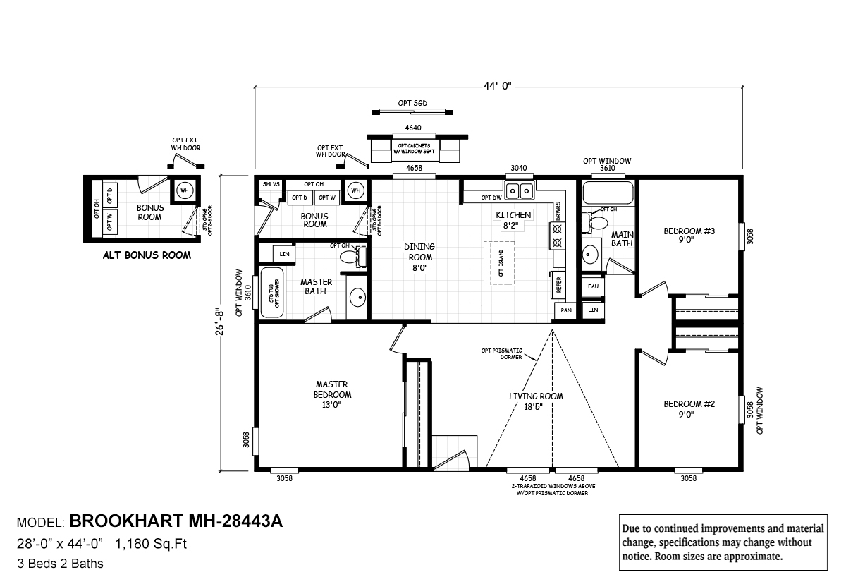 Cavco Homes Floor Plans Mh Series Brookhart By Cavco West