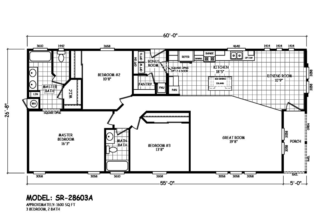 Sedona Ridge SR-28603A Layout