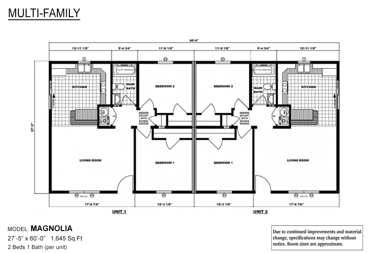 Multi-Family The Magnolia Layout
