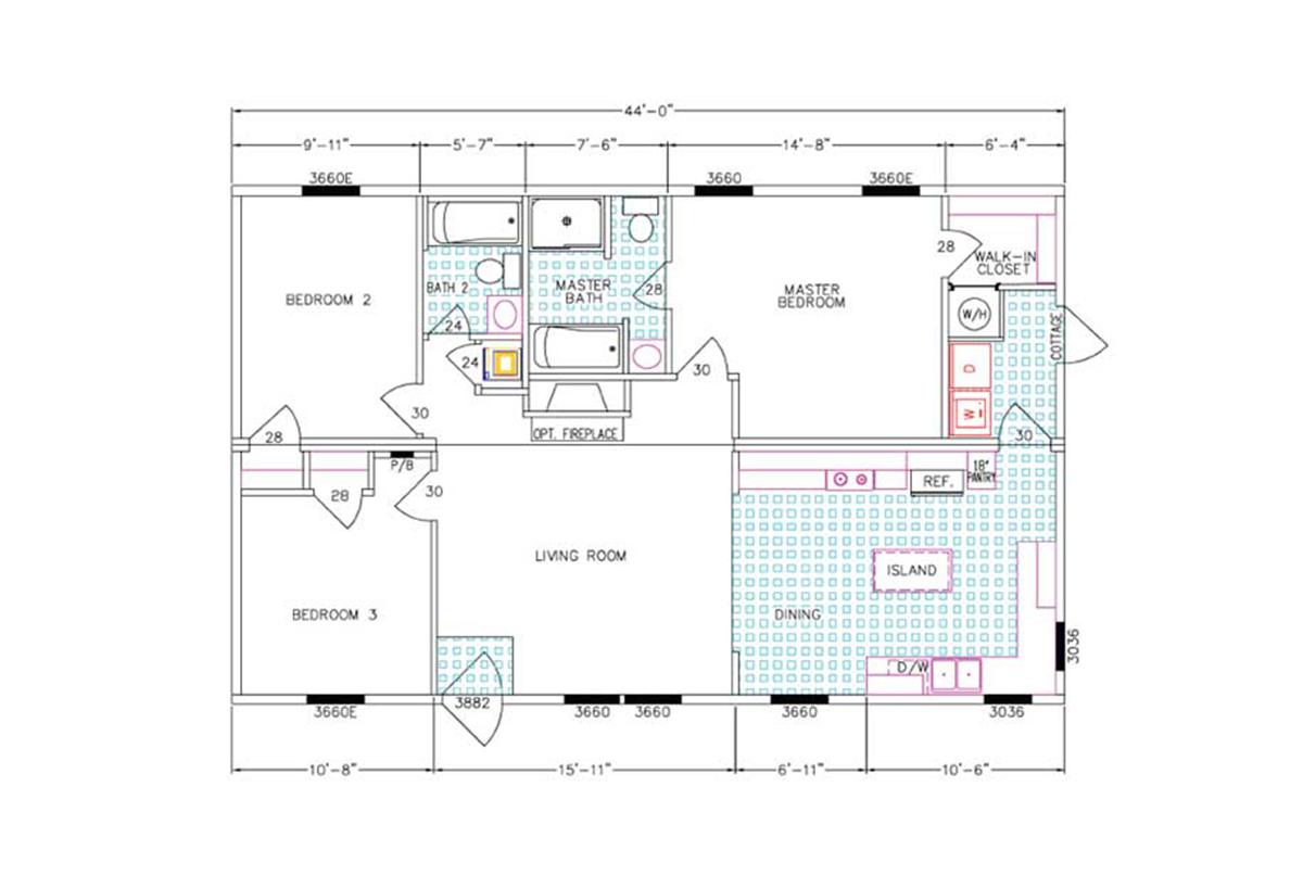 Hub City Homes Llc In Hattiesburg Ms Manufactured Home Dealer Ge Potscrubber Dishwasher Wiring Diagram Freedom Living Bree Layout