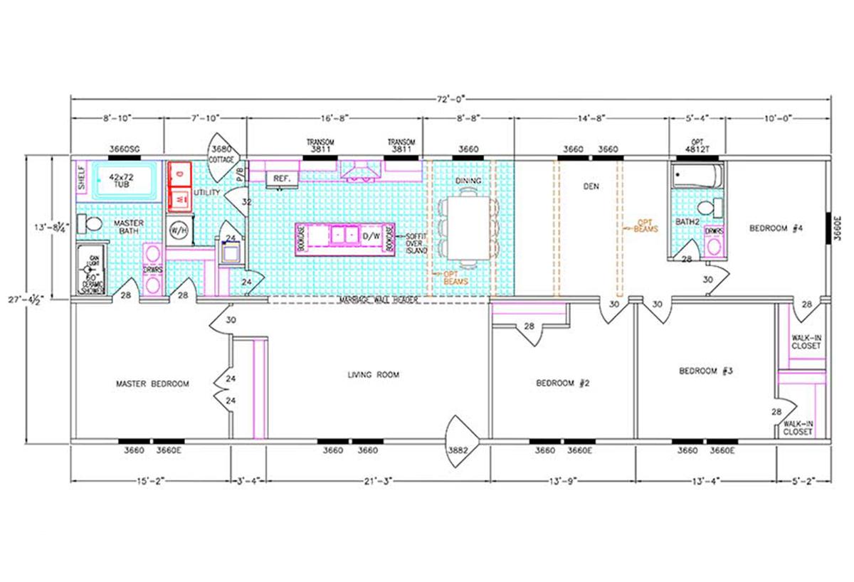 Hub City Homes LLC in Hattiesburg MS Manufactured Home Dealer – Jordan Built Homes Floor Plans
